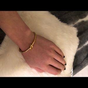 Gold Kate Spade Sailor's Knot Hinge Bangle